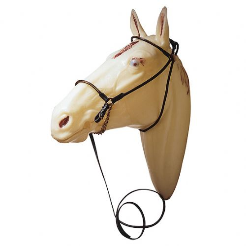 Arab presentation or show bridle with leather bit attachment